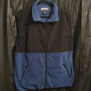 Rocky Creek blue and black full zip vest